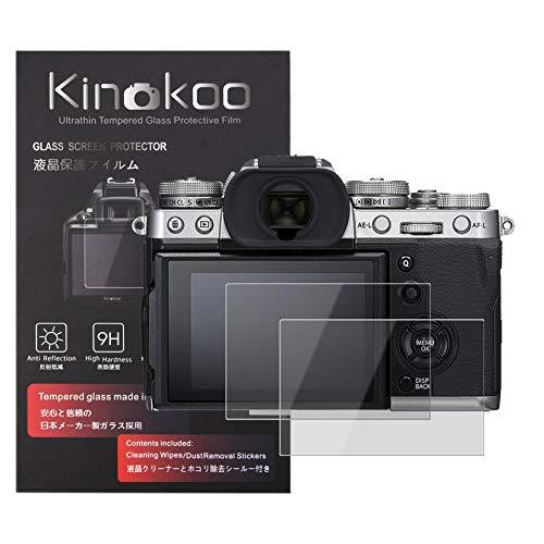 kinokoo Film de Verre trempé pour Fuji X-T3 Film de Protection d'écran Crystal Clear Fujifilm XT3 sans Bulles/Anti-Rayures (Paquet de 2)