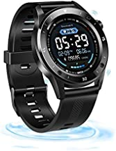 Fitness Tracker, Smartwatch Touch Activity Tracker Smart Bracelet, GPS Remote Control Weather Forecast Heart Rate Sleep Mo...