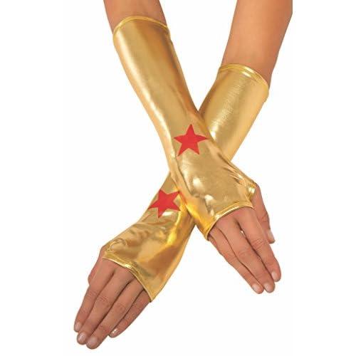 Rubie's guanti metallizzati ufficiali per adulto da Wonder Woman