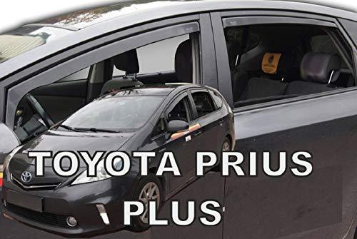 J&J AUTOMOTIVE - Deflectores de Viento compatibles con Prius Plus 5 Puertas 2011-prés (4 Piezas)