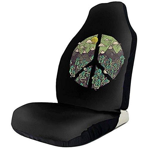 Preisvergleich Produktbild Sobre-mesa Nature Peace Sign Faszinierende Mode Zeichen Auto Sitzbezüge Full Set von 1,  Durable Universal Fit die meisten Auto,  LKW,  Geländewagen oder Van