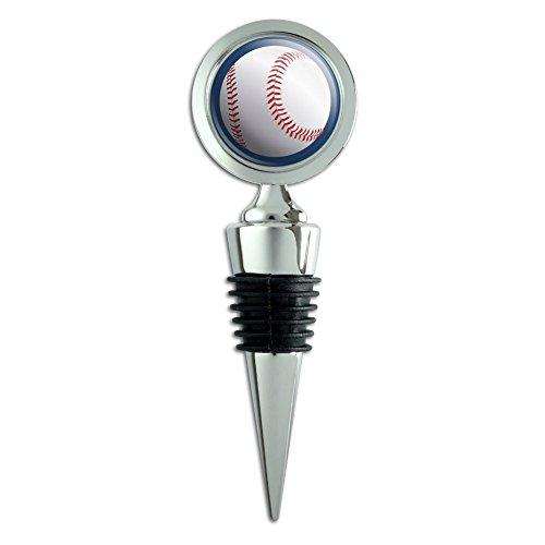 Wine Bottle Stopper Baseball Ball Sport American National Ball on Blue