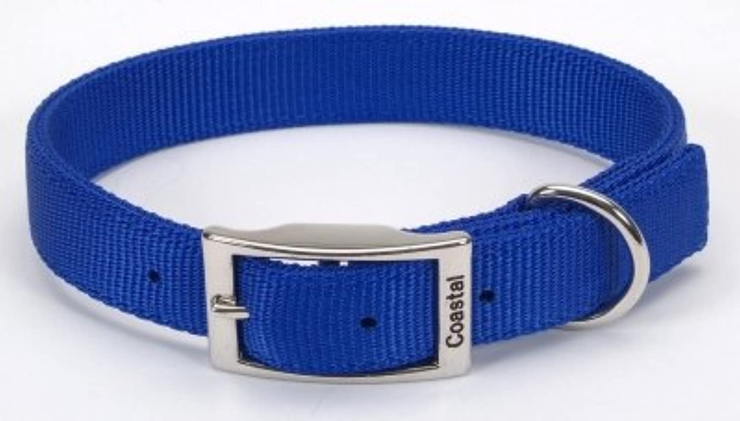 Coastal Pet Products DCP290120blue Nylon Double Dog Collar, 1 by 20Inch, bluee