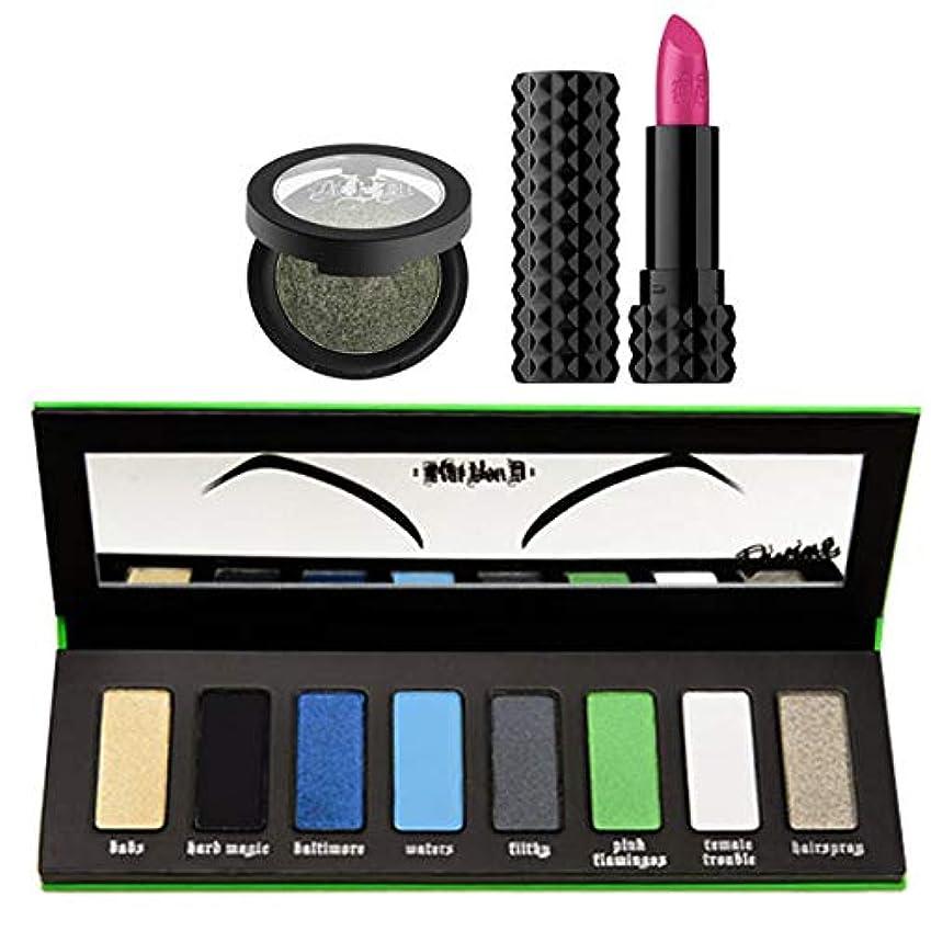 カーテン船酔い競争力のあるKat Von D キャットヴォンD, I Am Divine Palette + Metal Crush Eyeshadow (Black No. 1) + Crème Lipstick (Crush) [並行輸入品] [海外直送品]