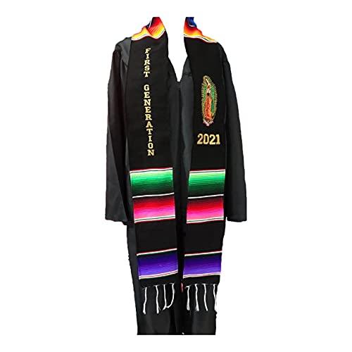 Clase de graduación de 2021 Primera generación Faja estola Virgen de Guadalupe accesorio sarape mexicano Sash 1 pc Virgen de Guadalupe 🔥