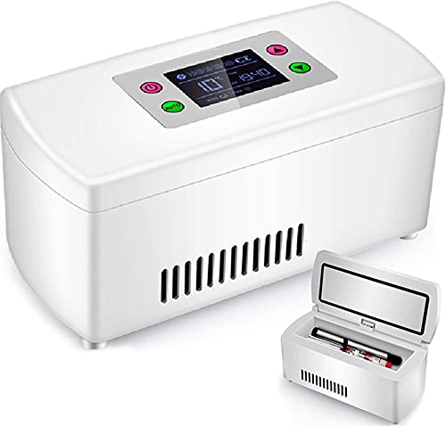 XnalLKJ Mini Nevera, Refrigerador De Insulina, Batería De Litio Recargable Incorporada, Adecuado para Insulina, Suero, Interferón, Gotas De Ojos, Viaje, Avión (Color : 1battery)