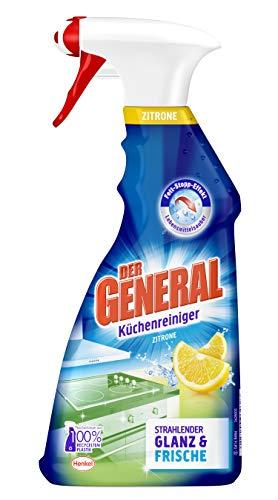 Der General Küchenreiniger Zitrone, Spray, beseitigt Fett und Schmutz für hygienische Sauberkeit 5er Pack (5 x 500 ml)