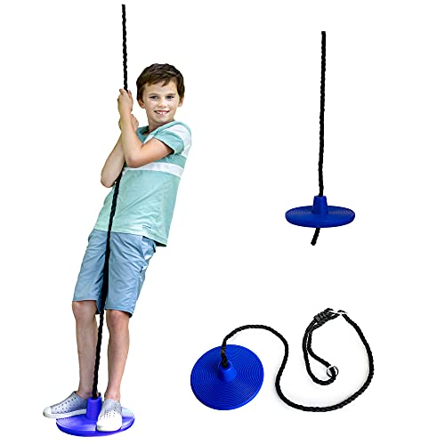 Squirrel Products Heavy Duty Plastic Tree Swing - Disc Rope...