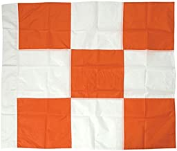 Safety Flag Vinyl Airport Flag, Checkered, Orange and White, 36 inches x 36 inches