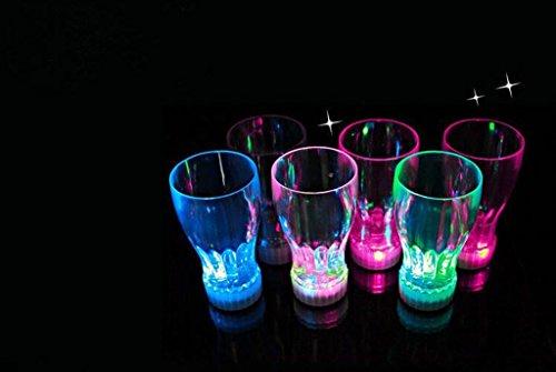 LED de vasos 2unidades) vasos cerveza jarra cerveza cristal Cambio de color 350ml