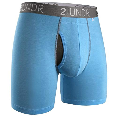 2UNDR Herren Swing Shift Boxershorts, Hellblau, Größe S