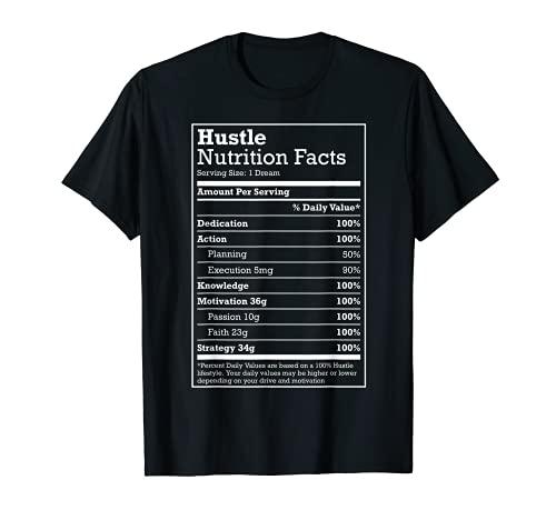Hustle Nutrition Facts Hustle Hard Hip Hop Christmas Gift T-Shirt