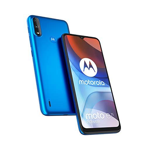 Motorola Moto E7i Power - Smartphone 32GB, 2GB RAM, Dual Sim, Tahiti Blue