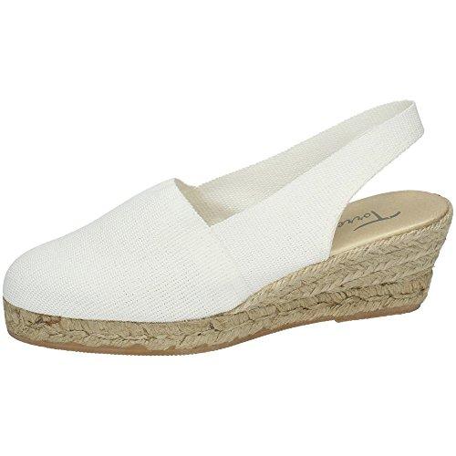 TORRES PELOTARI Zapatilla Blanca Mujer Alpargatas Blanco 36