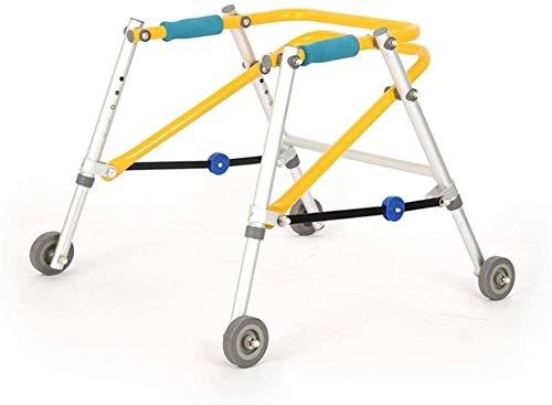 Andadores Ayuda for caminar Walker Niño extremidad inferior Rehabilitación Ayudas de entrenamiento del soporte del marco de los miembros inferiores Discapacidad delta Walker direccional de cuatro rued ✅