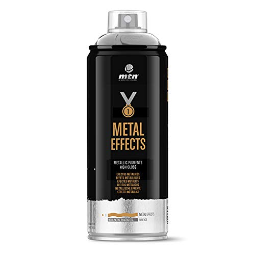 Montana Colors MTN Pro Efectos Metálicos-Plata Cromada, Spray 400ml