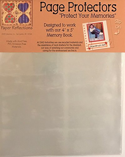 "Paper Reflections Slip-On Page Protectors 3-Pack- Designed to Work with 4""x5"" Memory Book- 3 Packs of 10 Sheets"