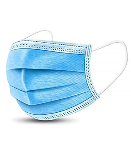 kafaknnl Three Layers Disposable Respirator-50PCS, blue