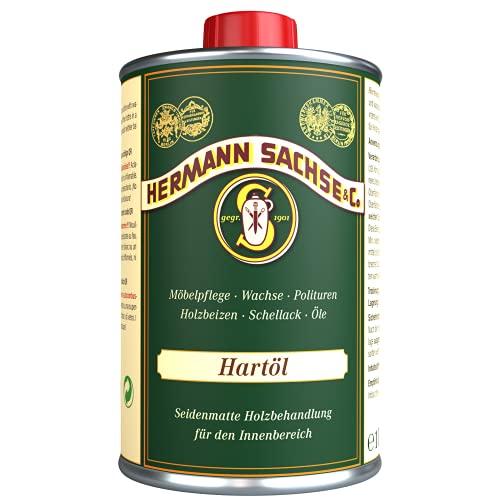 Holz braucht dieses Hartöl | Arbeitsplattenöl Holzöl | Möbelöl für Tische Möbel | Leinöl Holzschutz im Innenbereich (1Liter)