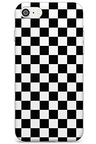 Case Warehouse Negro a Cuadros Slim Funda para iPhone 7/8 / SE TPU Protector Ligero Phone Protectora con Patrones Resumen Tablero De Damas Tartán Comprobado
