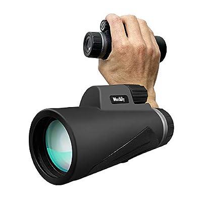 [Newest 2019] Monocular Telescope, MECKILY 12X50 High Power Monocular Single Hand Focus Telescope for Kids Waterproof HD BAK4 Prism FMC Len Compact Optic Bird Watching/Outdoor/Concert (Monocular)