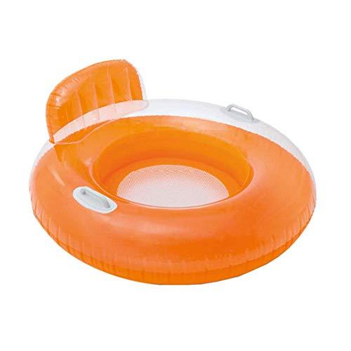 Piscina Flotante Fila-Color del Caramelo de la natación Flotante Fila Respaldo Mango natación Anillo Individual reclinable Sofá Agua,B