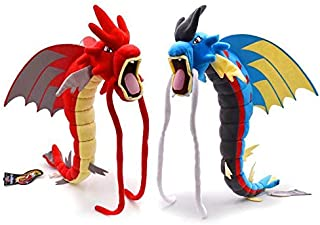 PampasSK Stuffed & Plush Animals - Inch Dragon Plush Toys Mega Evolution Red Shiny Gyarados Blue Dragon Toy Game Pikachu Cartoon Collection Stuffed Animal Doll 1 PCs