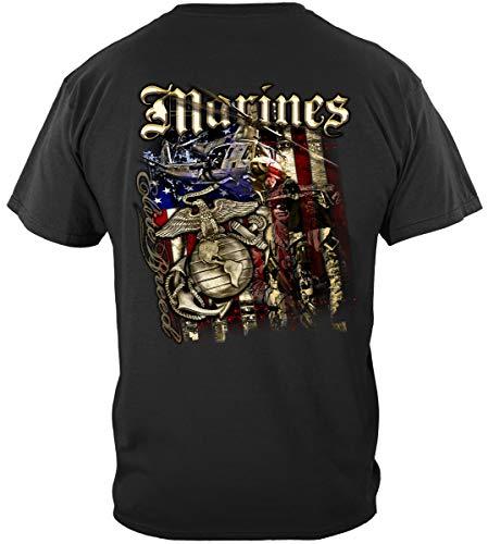USMC License Plate Frame | Elite Breed USMC Marines Aerial Assa Shirt ADD58-THM2067-4XL
