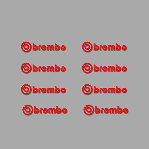 Ecoshirt 2Y-EQ7Q-UNM6 Aufkleber Brembo Am5 Sticker Autofkleber Decals Aufkleber, rot