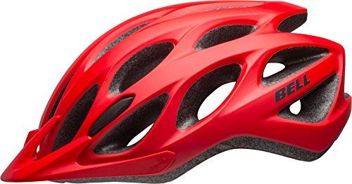 BELL Tracker - Casco de Ciclismo, Color Rojo y Negro Mate