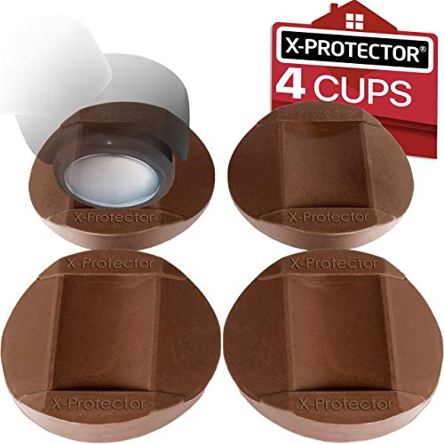 Furniture Cups - Bed Stoppers 4 PCS - X-PROTECTOR Premium Rubber Caster Cups Furniture Coasters – Best Furniture Caster Cups - Floor Protectors for All Floors & Wheels