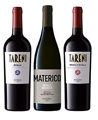 Vini Siciliani - Confezione Assaggio - Syrah   Nero D'avola   Nerello Mascalese Pellegrino [ 3x750ml ]