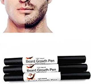 Shreeyas Men Liquid Beard Growth Pen Beard Enhancer Facial Whiskers Nutrition Moustache Drawing Pen : Black