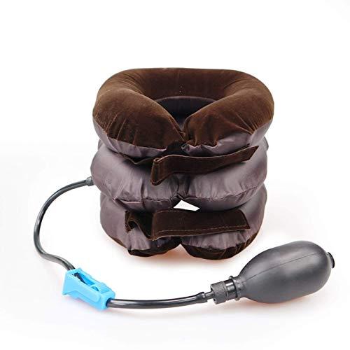 JONJUMP U Cuscino cervicale gonfiabile per cervicale cervicale per dolori al collo, per rilassarsi, supporto massaggiatore, cuscino per aria