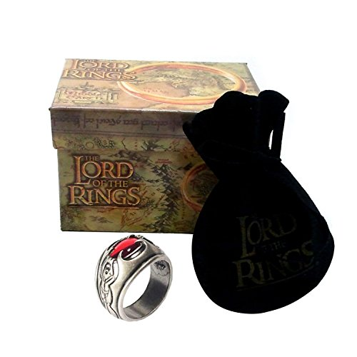 Medioevo El Señor de los Anillos - Anillo de NAZGUL Witch King 19mm - Lord of The Rings Replica Oficial