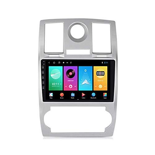 KLL Android 10 GPS Navigation Car Stereo Radio,para Chrysler 300C 2004-2008 HD Pantalla Táctil FM Enlace Espejo Controles del Volante Carplay Integrado+DSP(M300/M500/M600)