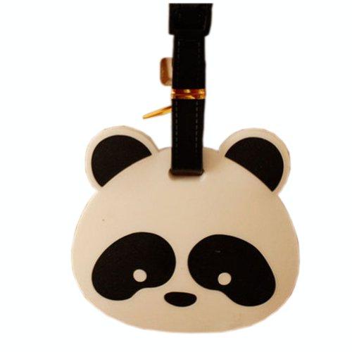 2 paquetes etiquetas equipaje Panda cabeza grande