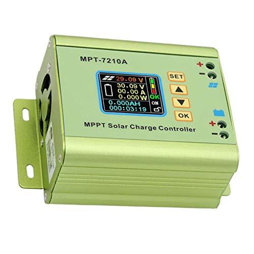 ZZALLLMPT-7210A LCD MPPT Controlador de Carga de Panel Solar Aleación de Aluminio para batería LiPo