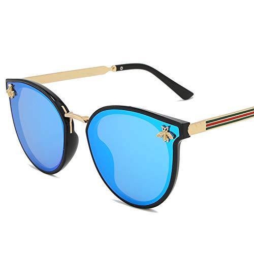 Q4S Gafas De Sol para Mujer Gafas De Sol Cuadradas para Hombre Uv400 para Hombre,Azul