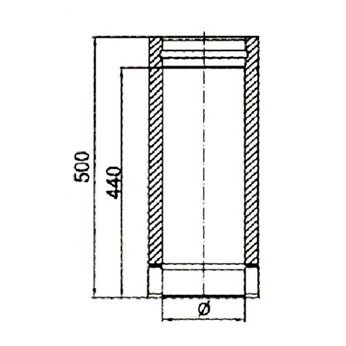 Ø 150 mm Schornstein - Längenelement 500 mm