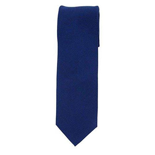 Cotton Park - Cravate 100% soie bleu marine - Homme