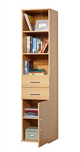 ambiato Büro Schrank Flat Buche Nb. Aktenschrank Vorratsschrank Wirtschaftsschrank 40x179x39 cm Made in Germany