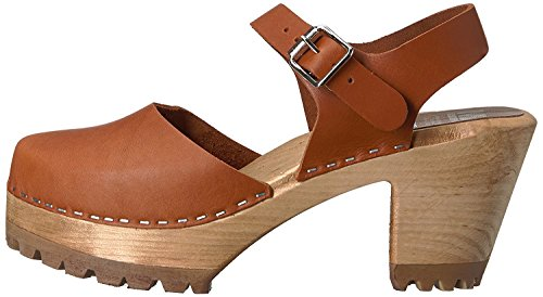 MIA Womens abba Leather Closed Toe Ankle Strap Clogs, Luggage, Size 6.0