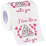 HESONTA Valentines Day Funny Toilet Paper Gag Gift - Romantic Novelty...