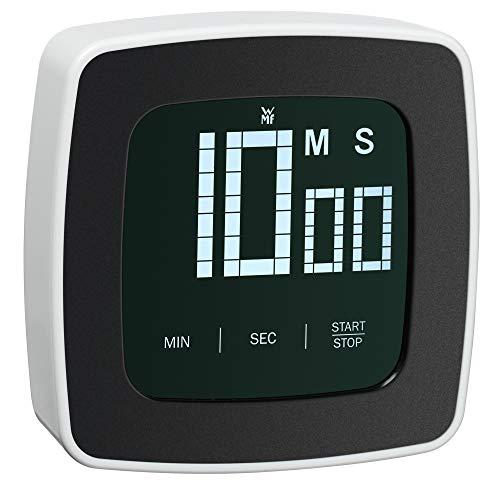 WMF Digitaler Kurzzeitmesser, 7,5 x 7,5 cm, Timer, Eieruhr, Cromargan Edelstahl, schwarz
