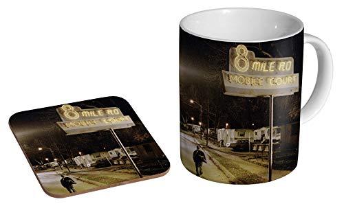 Eminem 8 Mile Keramik-Kaffeetasse + Untersetzer Geschenk-Set ...