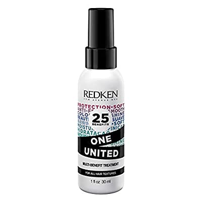 Redken One United All-In-One Leave In Conditioner | Multi-Benefit Treatment | Heat Protectant Spray for Hair | All Hair Types | Paraben Free