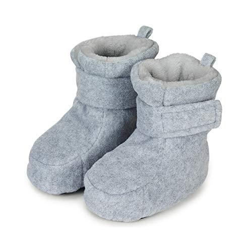 Sterntaler Jungen Baby Stiefel mit Klettverschluss, Farbe: Silber melange, Größe: 17/18, Alter: 6-9 Monate, Artikel-Nr.: 5101616