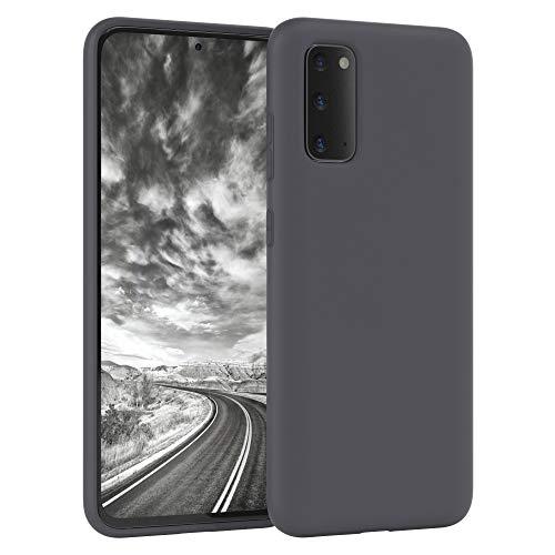 EAZY CASE Nano Silikon Handyhülle kompatibel mit Samsung Galaxy S20, Slimcover mit Kameraschutz & Innenfutter, Silikonhülle, Schutzhülle, Bumper, Handy Hülle, Hülle, Softcase Ultra dünn, Anthrazit