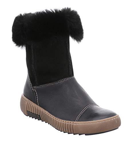 Josef Seibel Damen Winterstiefel Maren 14, Frauen Stiefel,Winter-Boots,Schnürstiefel,gefüttert,warm,schwarz,41 EU / 7 UK
